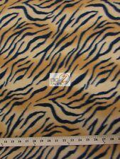 "TIGER PRINT POLAR FLEECE FABRIC - Tiger - 60"" WIDTH SOLD BY THE YARD  31"