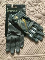 Nike Hurache Elite Batting Baseball Glove Gold Gray Size Small NEW MSRP $80