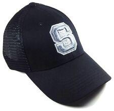 PREDATOR NORTH CAROLINA NC STATE WOLFPACK BLACK MESH TRUCKER SNAPBACK HAT CAP