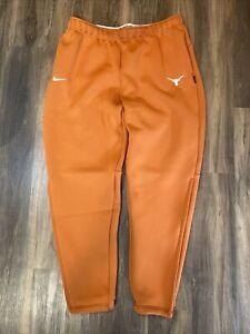Nike Texas Longhorns NCAA Burnt Orange On-Field Therma Fleece Sweatpants Size XL