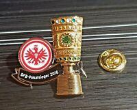 Eintracht Frankfurt SGE Pin DFB Pokal 2016 Magdeburg 01 Maße 28x17mm