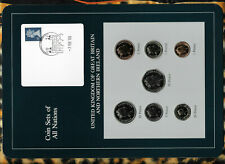 Coin Sets of All Nations Great Britain wcard PROOF 1£,1,2,5,10,20, 50 Pence 1988