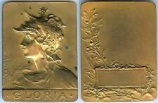 Médaille de table - GLORIA par RASUMNY d=46x61mm bronze + corne