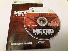 Metro 2033 - UK XBOX 360 Disc + Instructions Only VGC