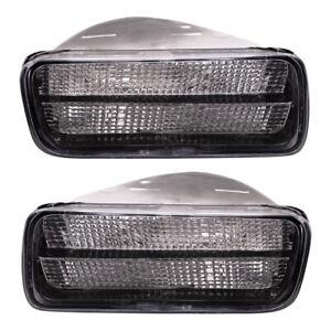 Pair Set Park Signal Front Marker Lights Lamps for 1985-1992 Chevrolet Camaro