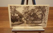 cpa, Courances, rue de la gare, carte postale ancienne, noir et blanc