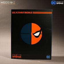 One 12 Batman Comics DC Deathstroke Clothed Action Figure Mezco 1/12 15cm Deluxe