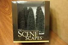 "BACHMANN SCENE SCAPES HO SCALE 5"" - 6"" CEDAR TREES  (6) TREES/BOX"