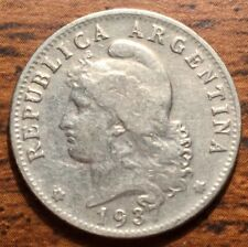 1937 Argentina 20 Centavos Capped Liberty Coin