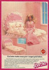 X1066 BARBIE - Un letto tutto rosa - Mattel - Pubblicità 1989 - Advertising