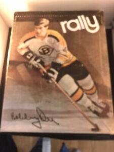 1970 NHL Bobby Orr Rally Hockey Skates Boston Bruins SignatureW/Box  Ex