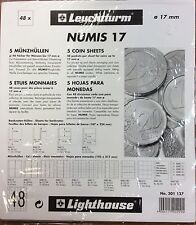 Lighthouse Numis  17mm  coin pages-Pack of 5