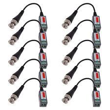 10 CAT5 Security Camera BNC Connector Video Balun Coax Cable Transceiver Passive