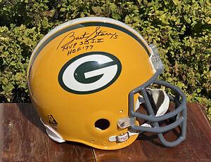 Bart Starr HOF SIGNED Green Bay Packers Riddell FULL SIZE Football Helmet w/ COA