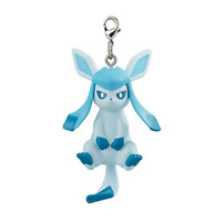Pokemon Eeveelution Glaceon Capsule Mascot Swing Key Chain Connected Together