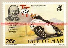 HAILWOOD Mike : Tourist Trophy Senior TT Race 1961 Carte Postale Moto Postcard
