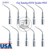 10 Pcs Dental Perio Scaling Tips For Satelec/DTE Scaler PD3