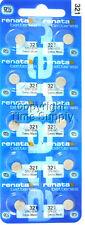 10 pcs 321 Renata Watch Batteries SR616SW SR616 0% MERCURY