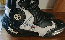 motogp Alex Marquez race used boots hand signed