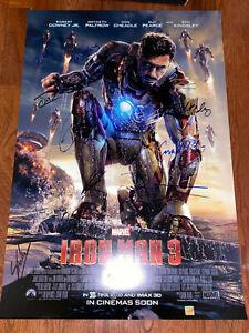 Iron Man 3 Movie Poster CAST SIGNED Premiere Marvel Avengers Stan Lee Endgame