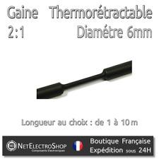 Gaine Thermorétractable 2:1 - Diam. 6 mm - Noir -1 à 10m #141