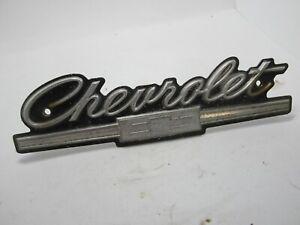 66 Chevrolet Bel Air Biscayne Caprice Impala Grille Emblem Script USED