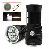 32000LM TORCIA LUCE LED LAMPADA CACCIA PESCA 12 CREE XM-L T6 LED Impermeabile