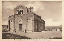 NP5018 - OLBIA TERRANOVA PAUSANIA - BASILICA S.SEMPLICIO NON VIAGGIATA 1936