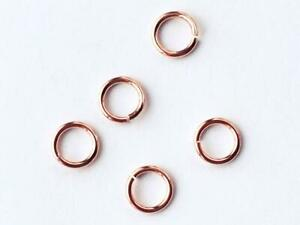 7mm Rose Gold Over 925 Sterling Silver Open Jump Rings 5 or10 Quality Saw Cut JM