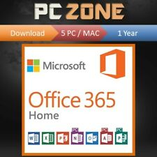 Microsoft Office 365 Home - 5 Users/Devices - 1 Year Subscription - PC MAC 2018