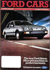 Ford Cars Oct-Nov 1982 Fiesta Escort Sierra Capri Granada Original UK Brochure
