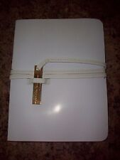 "Salvatore Ferragamo Document Holder White 9""X 7"""