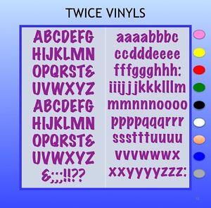 SELF ADHESIVE LETTERS stickers  15mm high vinyl alphabet set MARKER FELTPEN
