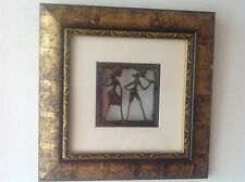 New Exquisite Dokra Art Picture Frame Indian Folk Home Decore in a black & gold