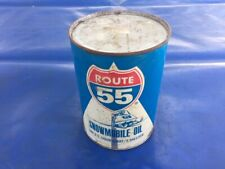 Vintage Sovereign Oil Gas Co Route 55 Snowmobile Oil 1 Quart 32oz Can FULL