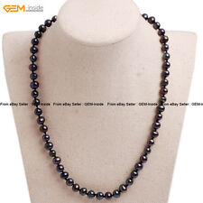Womens Cultured Pearl Beads Beaded Healing Necklaces Christmas Gift Box Jewelry