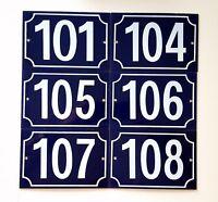 101 104 105 107 108 number sign Vintage French enameled door house plaque
