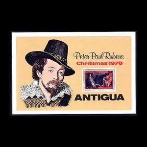 Antigua, Sc #527, MNH, 1978, S/S, Christmas, Art, Ruben, Annunciation, AR5FED-C