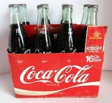 Coca Cola 8 Pack 16 oz Return Bottles Sealed w Carrier $ Game Caps 1960's & 70's