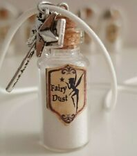 FAIRY DUST WISH JAR NECKLACE WITH WITH WAND AND WISH CHARM