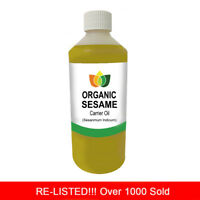 500ml SESAME SEED OIL PREMIUM Cold Pressed Natural Carrier/Base