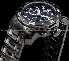 Invicta Pro Diver Scuba Quartz Chronograph Black Ion Plated SS 48mm Watch 21926