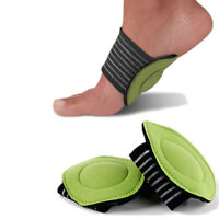 PAIR FABRIC FOOT ARCH SUPPORT CUSHION PLANTAR FASCIITIS FALLEN ARCHES HEEL PAIN