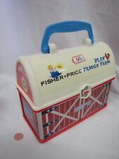 Fisher Price Little People On The Go FARM BARN Play Carrier Lunch Gift Box Rare