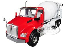 KENWORTH T880 W/ MCNEILUS STANDARD MIXER RED/ WHITE 1/34 BY FIRST GEAR 10-4130