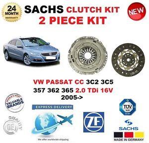 FOR VW PASSAT CC 3C2 3C5 357 362 365 2.0 TDi 16V 2005-> SACHS 2 PIECE CLUTCH KIT