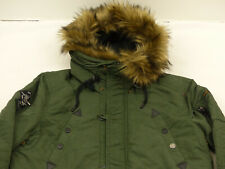 Khujo Casual Flyer Bomber Jacket Parka Coat N - 3b Olive Green SIZE: XL Tip Top