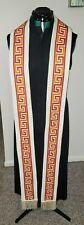 CLERGY STOLE LITURGICAL VESTMENT CUSTOM MADE REVERSIBLE EMBOIDERED SYMBOLISM