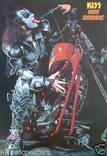 "KISS ""GENE SITTING ON CHOPPER MOTORCYCLE"" POSTER FROM ASIA - Hard Rock Music"