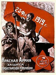 Propaganda Political Military Russian Revolution Red Army Worker Canvas Print